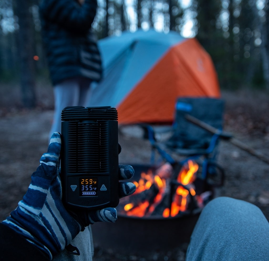 Camping with Mighty Portable Vaporizer