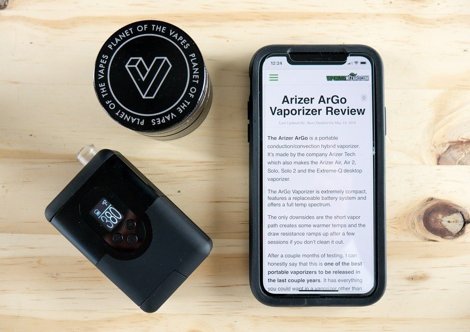 Arizer ArGo Portable Vaporizer Review