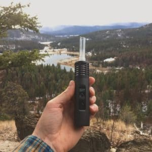 Biking with the Arizer Air 2 Vaporizer