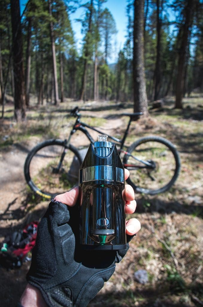 Biking with the Ghost MV1 Vaporizer