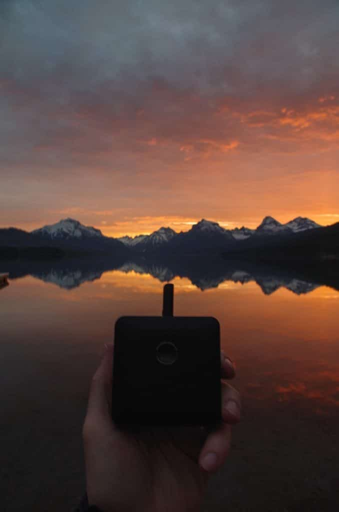 Haze Square Vaporizer in Glacier National Park