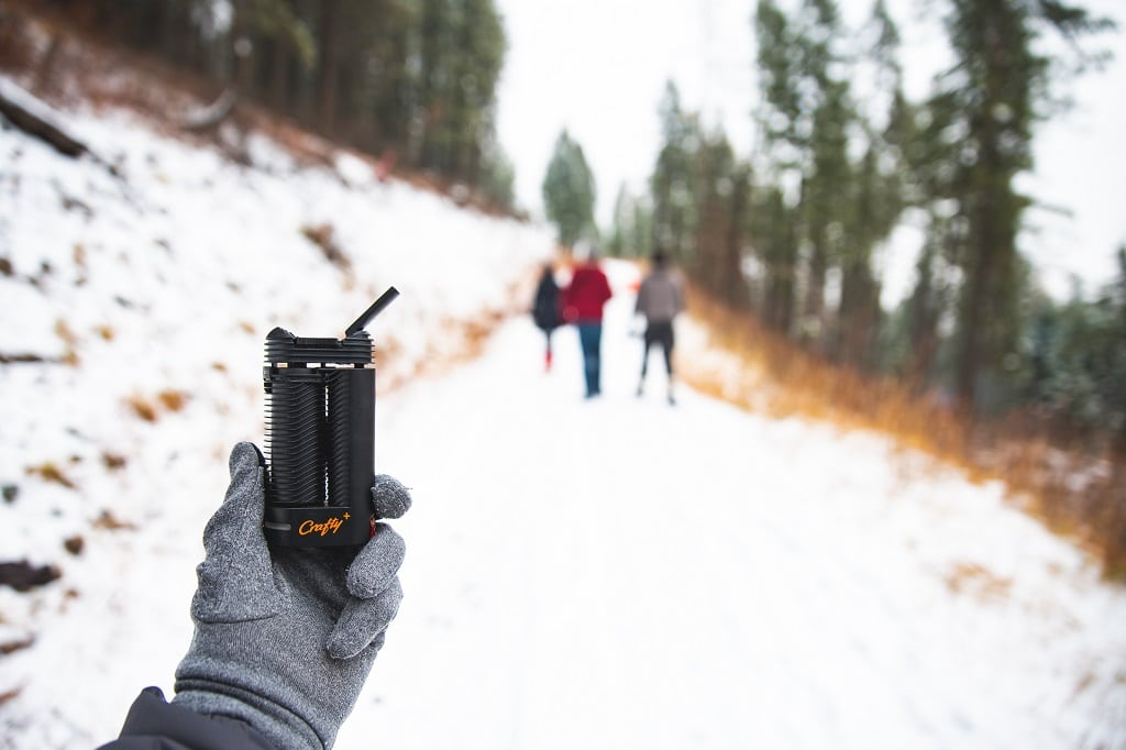 Crafty Plus Vaporizer - Hiking - VaporizerWizard