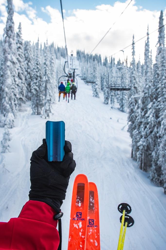 Davinci IQ 2 vaporizer skiing