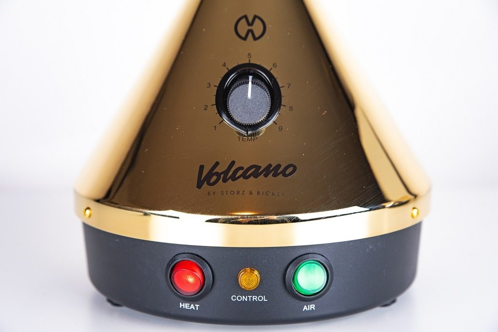 Volcano Vaporizer - Gold Edition - Buttons and Temp Control