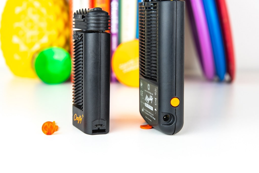Mighty and Crafty Plus Vaporizer Charging Ports