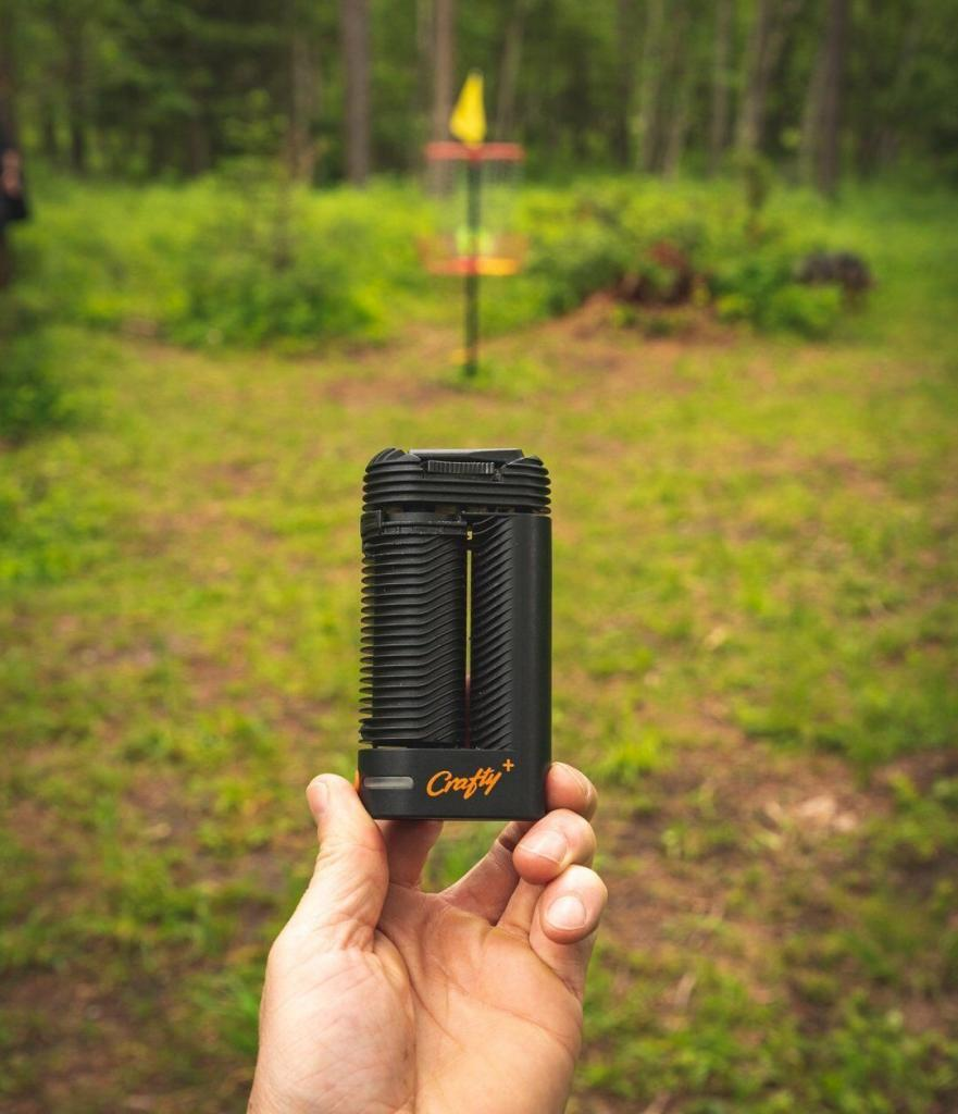 Disc Golf with Crafty Plus Vaporizer